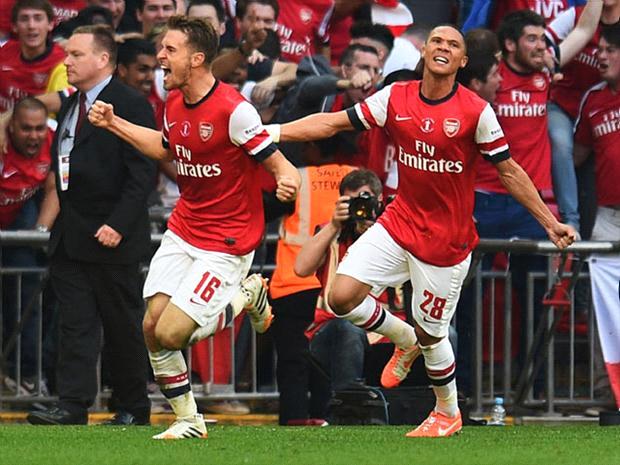 Aaron Ramsey marcou o gol mais importante do Arsenal nos últimos 9 anos (Getty)