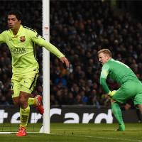 Luis Suárez foi o destaque da vitória do Barcelona sobre o Manchester City (Foto: Google)